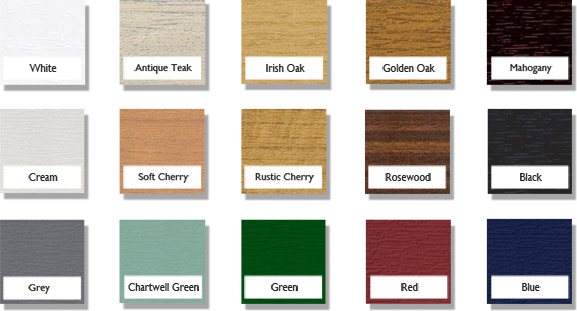 Double glazing frame colour options